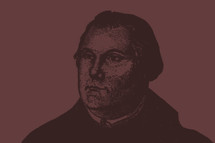 Sketch of Martin Luther