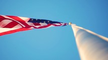 American flag on a flagpole
