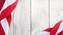American flag on a wood background