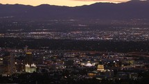 Mountains and Salt Lake City at night