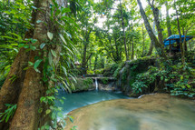 waterfall and springs near Luwuk
