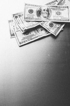 Stack of paper money.