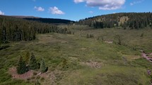 drone shot over Colorado landscape