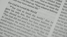 For God so Loved the world, pages of a Bible
