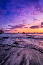 Trinidad Beach at sunset
