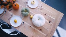 fall dinner party table setup