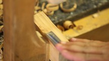 carving wood, making furniture