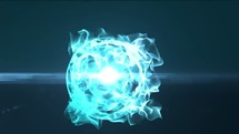3D energy ball surging
