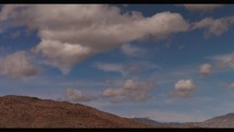 Time lapse of clouds moving over the Anza-Borrego desert in California.