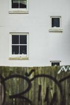 windows and graffiti