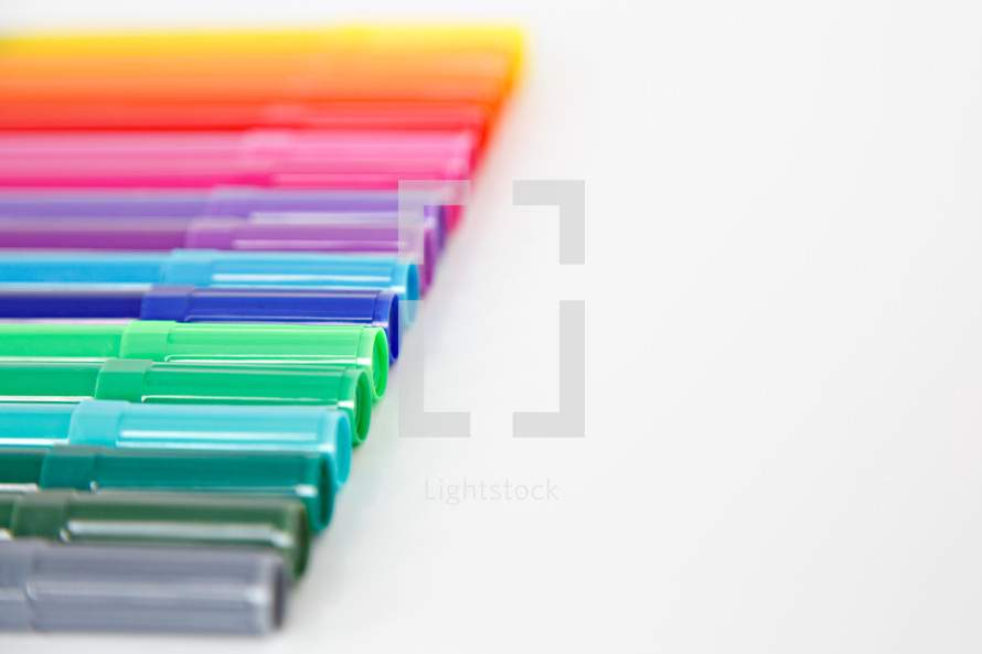 rainbow of markers
