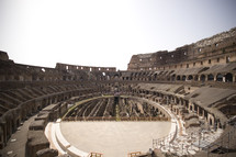 Coliseum in Rome Interior