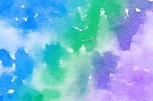 blue, green, purple, watercolor background