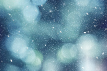 bokeh snowfall