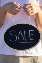 Sale Written on Chalboard