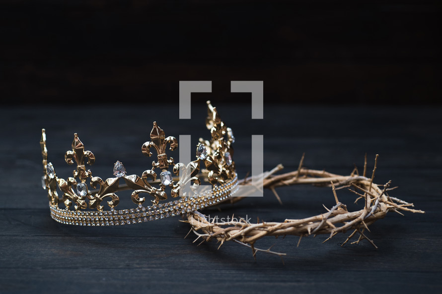 king's Crown and Crown of Thorns