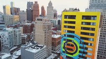 Scenic shots of Detroit in the winter time.