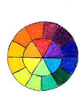 hand drawn color wheel