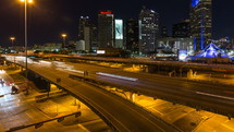 Dallas traffic at night
