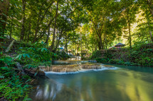 waterfall and springs near Luwuk in Indonesia