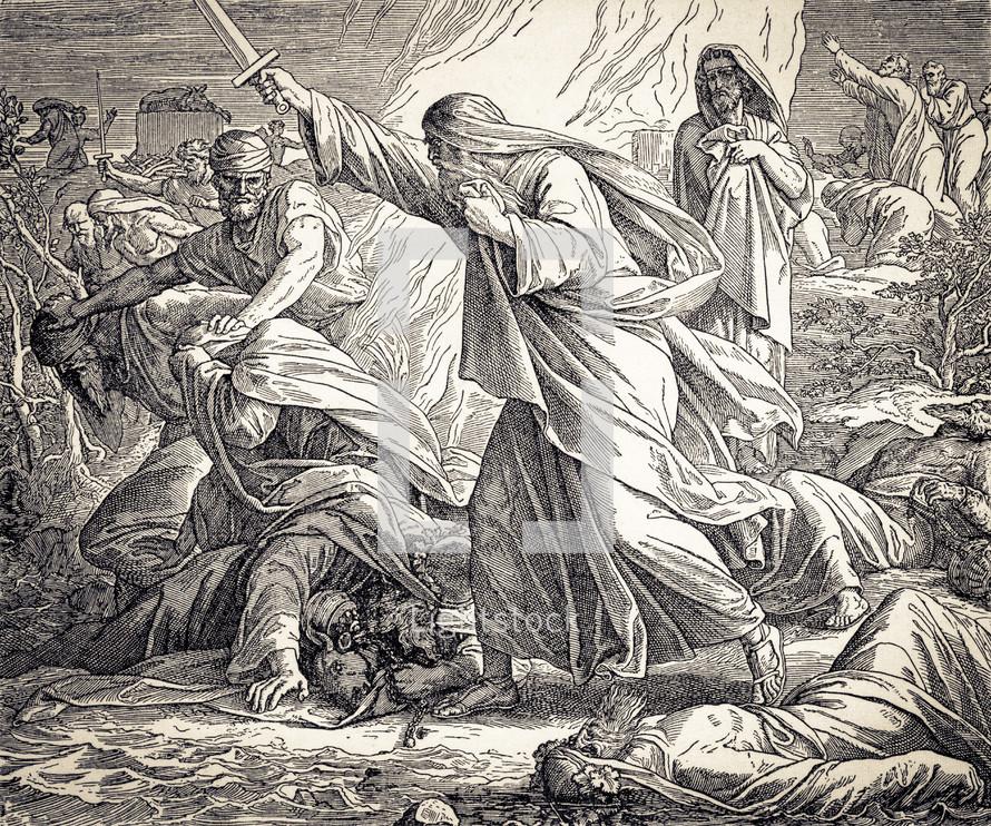 Elijah Kills the Prophets of Baal, 1 Kings 18:36-40