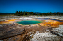 Midway Geyser Basin in Yellowstone National Park of Wyoming.