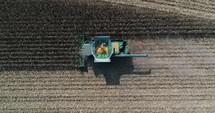 corn harvester tractor