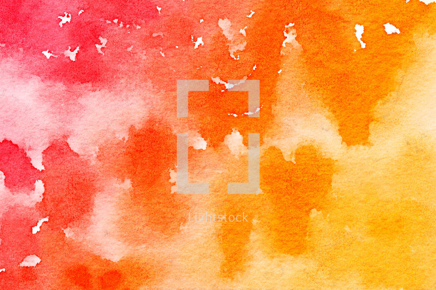 red, yellow, orange, watercolor background