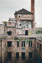 graffiti on buildings in Berlin