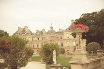 Palace in Paris Luxembourg Garden