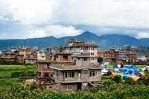 Kathmandu houses and tents