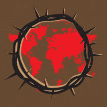 Crown of Thorns, Jesus, Blood Shed, Sacrifice, World, Salvation, map, world map, Redemption, Splatter, Good Friday