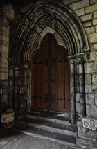 church door in Scotland