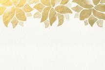 gold flower border