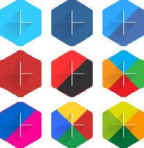 social media cross icons