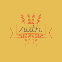 Ruth and wheat grains