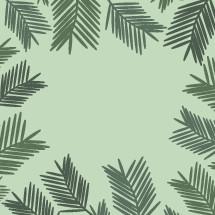 Palm frond border.