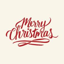 hand drawn Merry Christmas type.