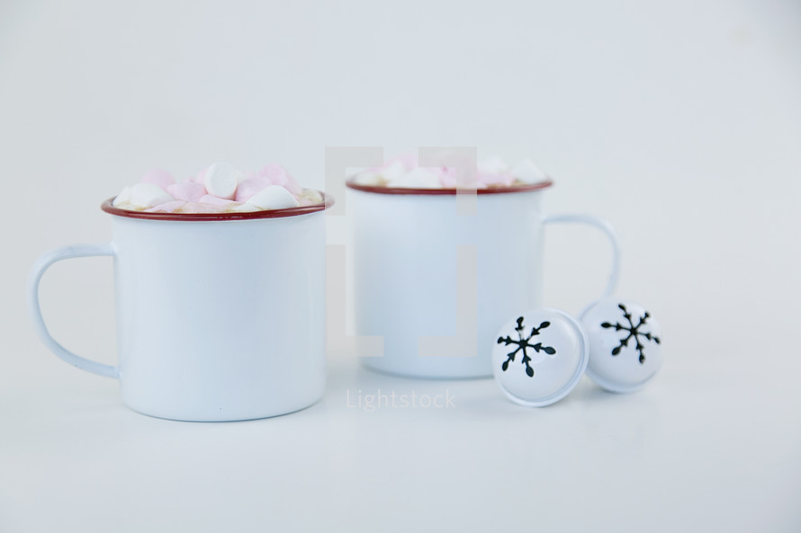 hot cocoa mugs and bells