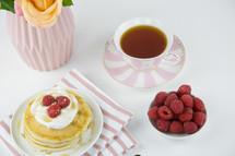 raspberries on pancakes