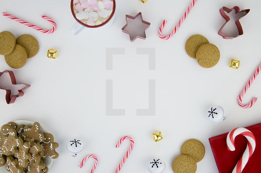 holiday cookies border