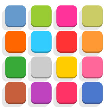 square rounded icons