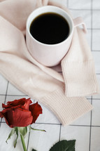 sweater, roses, sheets, linens, bed, bedding, bedspread, grid