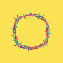 colorful crown of thorns