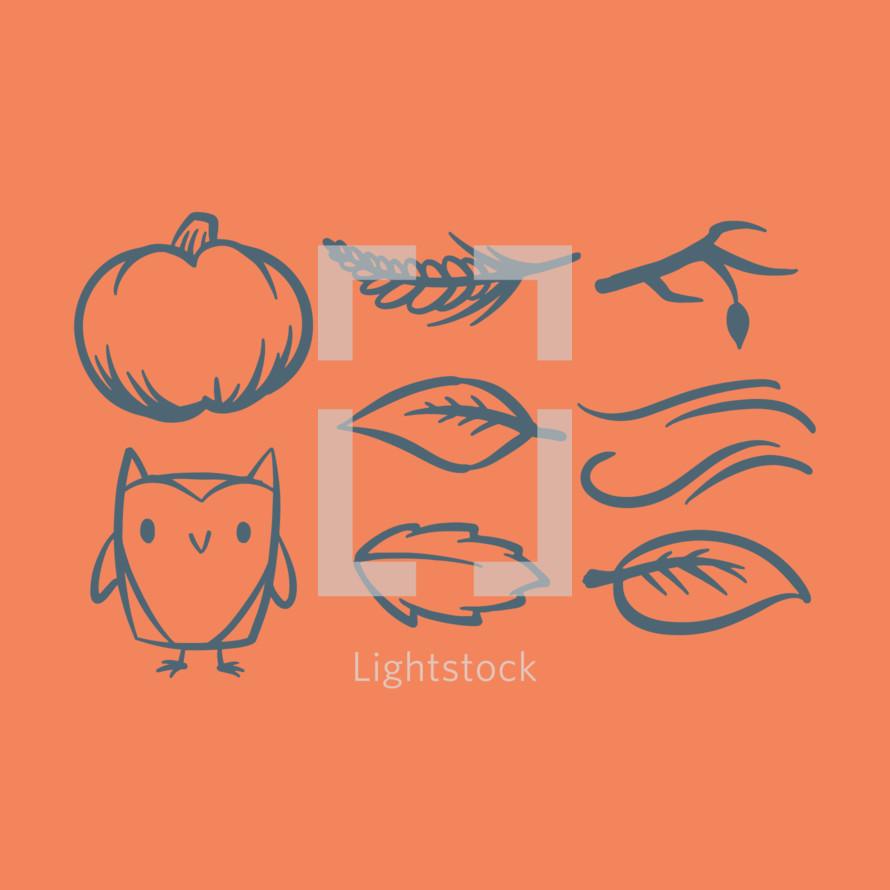 autumn illustrations
