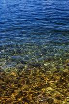 water in Jenny Lake