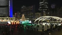 Christmas at Nathan Phillips Square, Toronto, Canada.