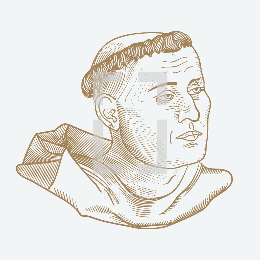 Martin Luther sketch