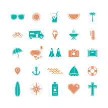 summer icons pack.