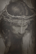 Jesus and his crown of thorns.